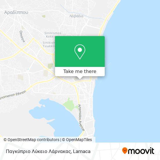 Παγκύπριο Λύκειο Λάρνακας χάρτης
