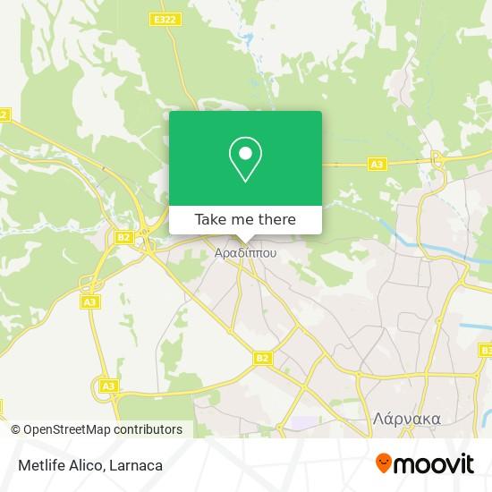 Metlife Alico χάρτης