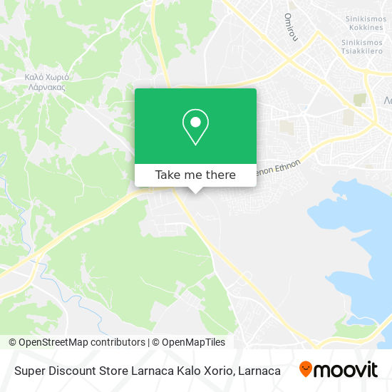 Super Discount Store Larnaca Kalo Xorio χάρτης