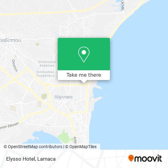 Elysso Hotel χάρτης