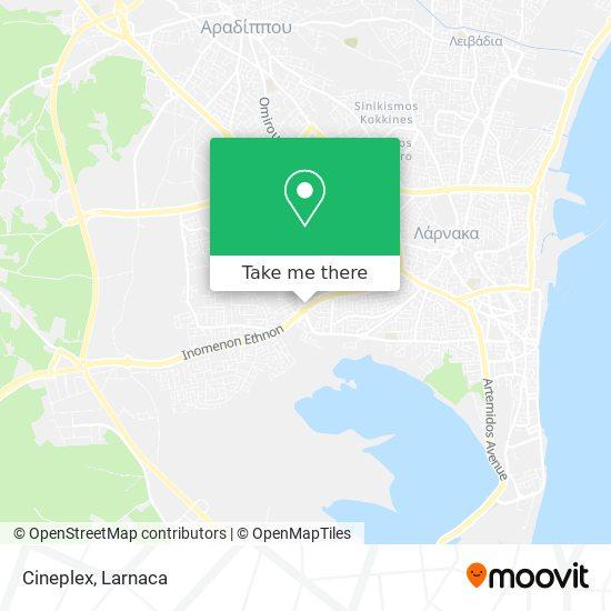 Cineplex χάρτης