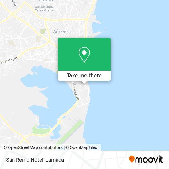 San Remo Hotel χάρτης