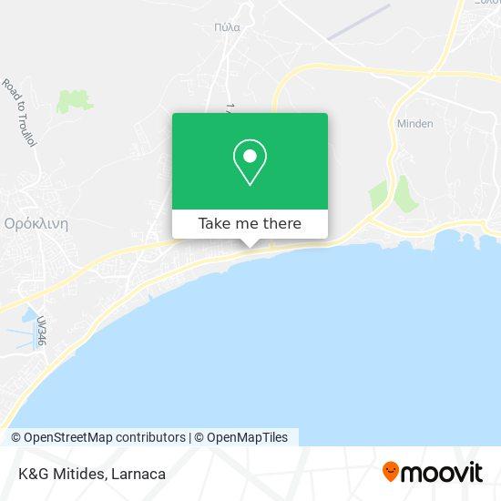 K&G Mitides χάρτης