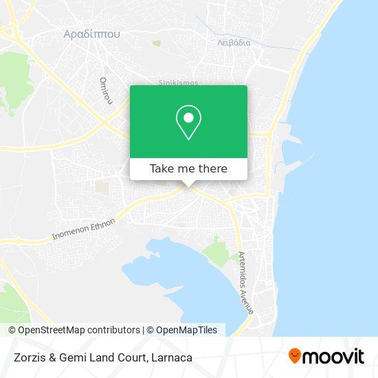 Zorzis & Gemi Land Court χάρτης