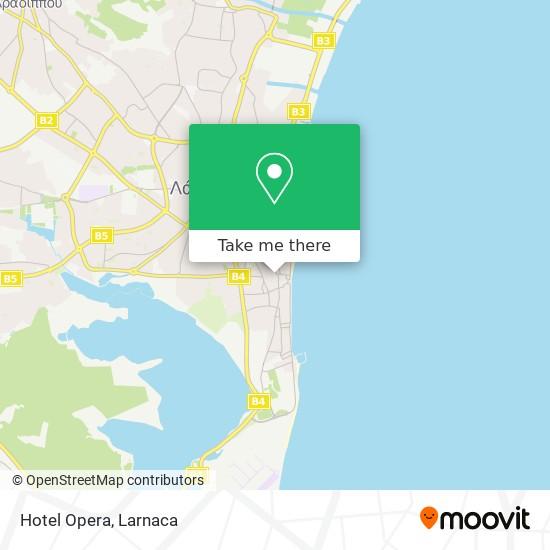 Hotel Opera χάρτης