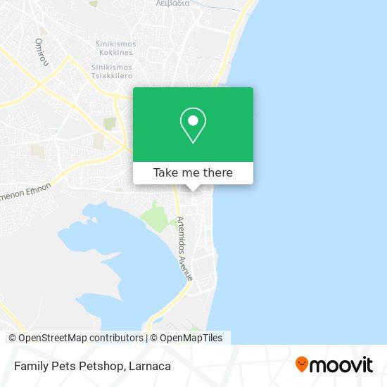Family Pets Petshop χάρτης