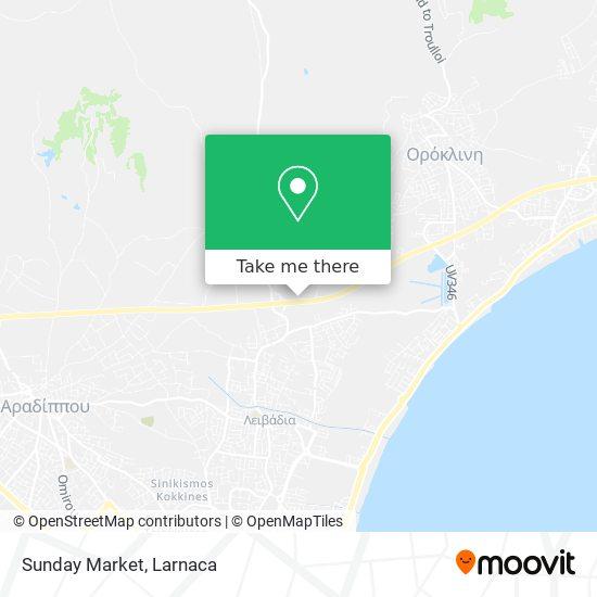 Sunday Market χάρτης