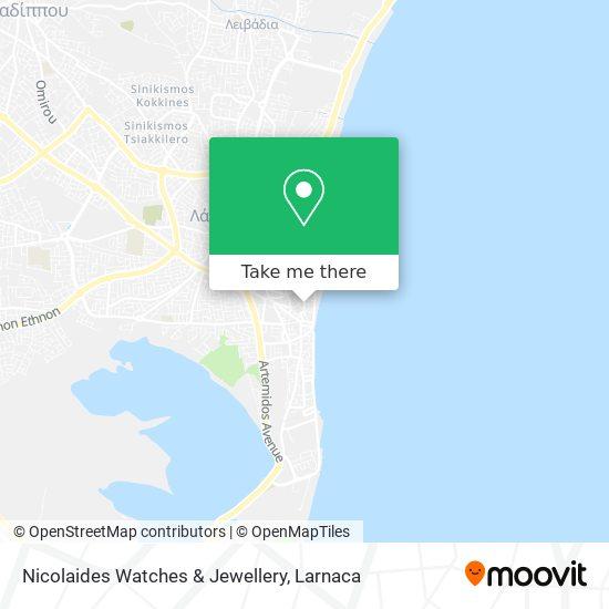 Nicolaides Watches & Jewellery χάρτης