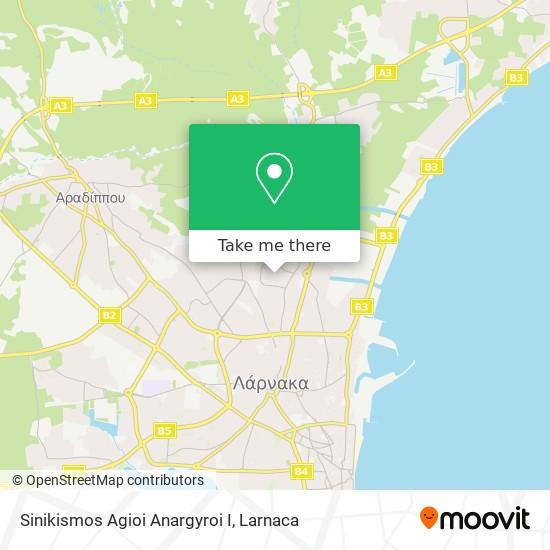 Sinikismos Agioi Anargyroi I χάρτης