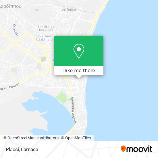 Placci χάρτης