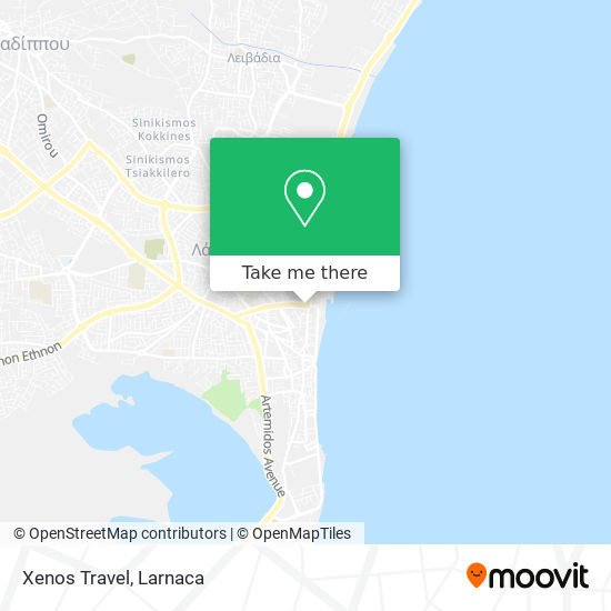 Xenos Travel χάρτης