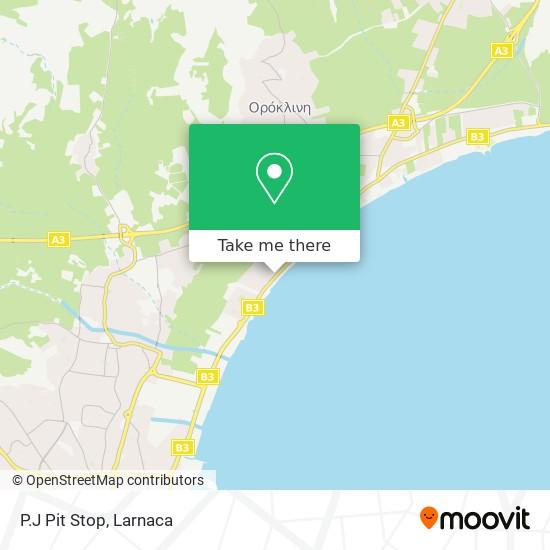 P.J Pit Stop χάρτης