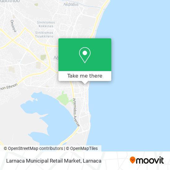 Larnaca Municipal Retail Market χάρτης
