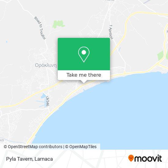 Pyla Tavern χάρτης