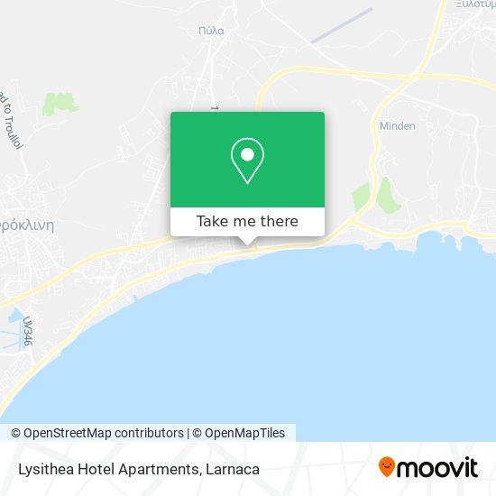 Lysithea Hotel Apartments χάρτης