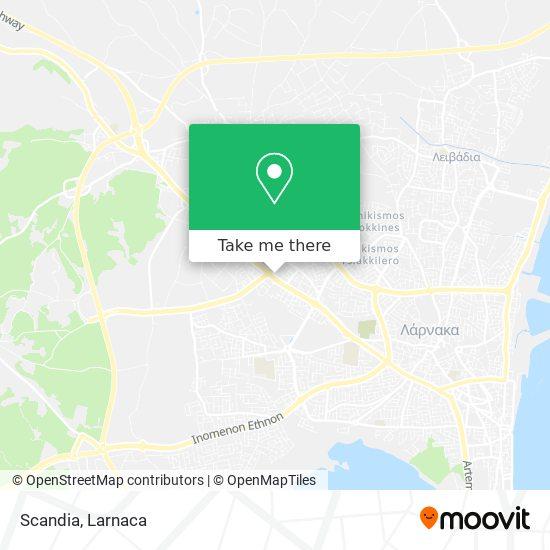 Scandia χάρτης