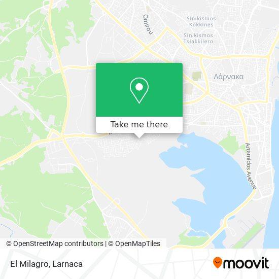 El Milagro χάρτης