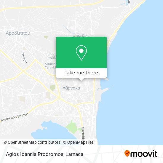 Agios Ioannis Prodromos χάρτης