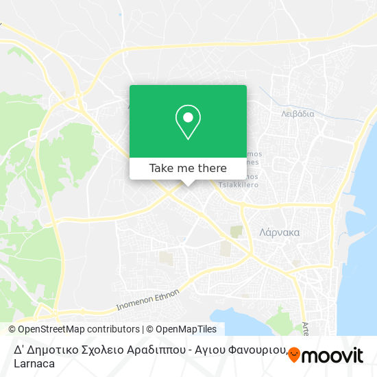 Δ' Δημοτικο Σχολειο Αραδιππου - Αγιου Φανουριου χάρτης