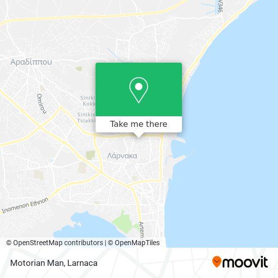 Motorian Man χάρτης