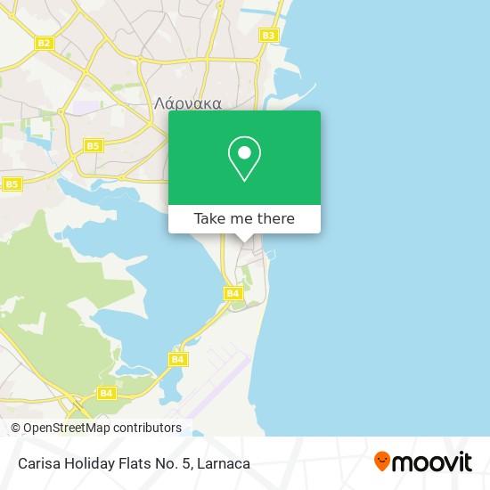 Carisa Holiday Flats No. 5 χάρτης