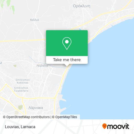 Louvias χάρτης