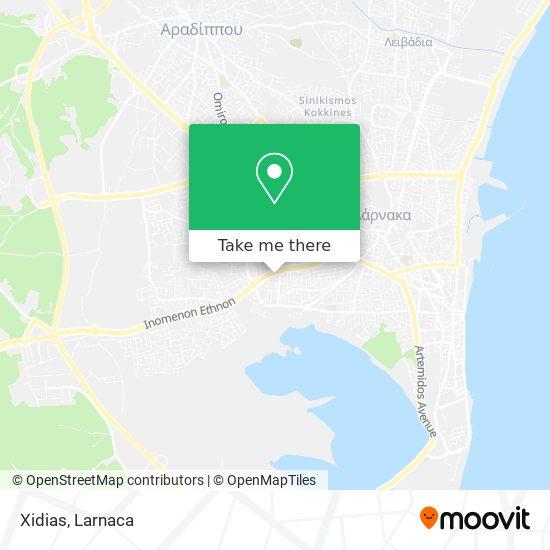 Xidias χάρτης