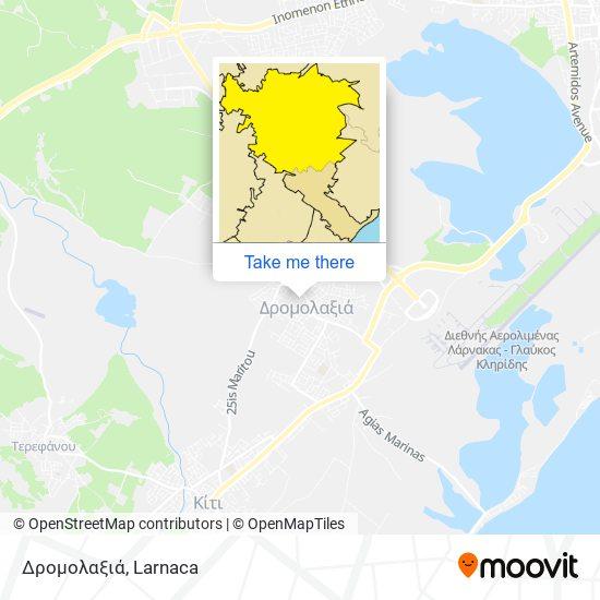 Dromolaxia χάρτης