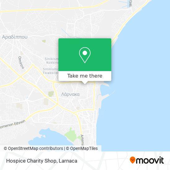 Hospice Charity Shop χάρτης