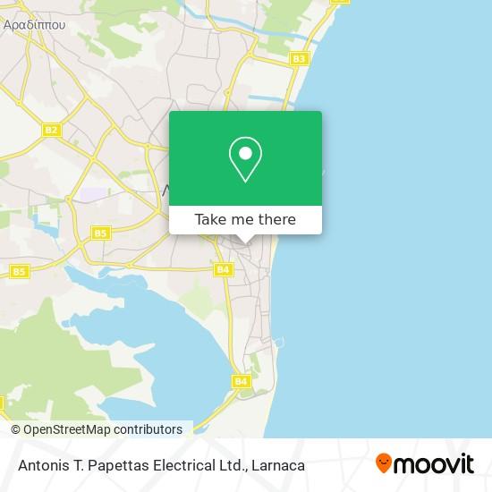 Antonis T. Papettas Electrical Ltd. χάρτης