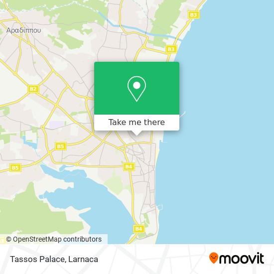 Tassos Palace χάρτης