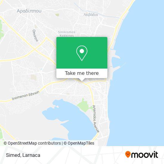Simed χάρτης