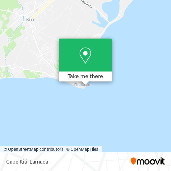 Cape Kiti χάρτης