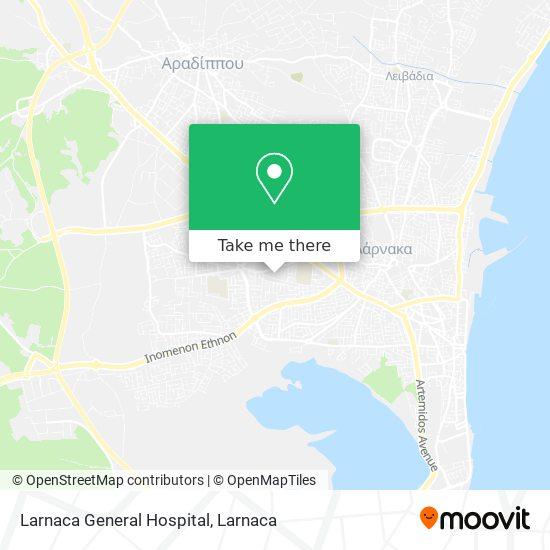 Larnaca General Hospital χάρτης