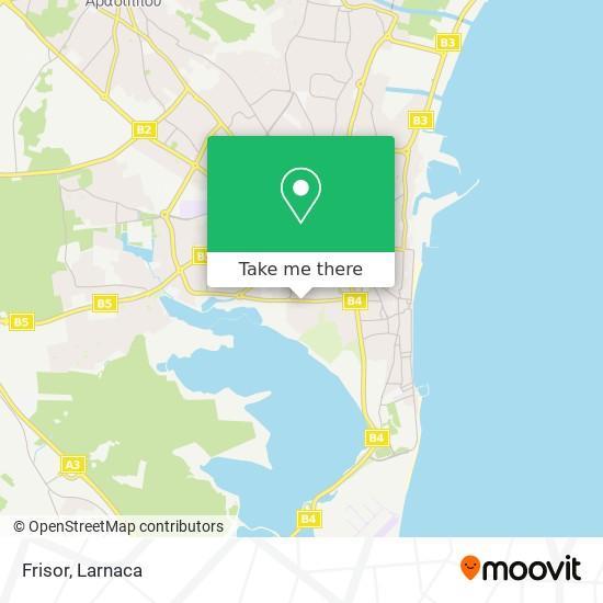 Frisor χάρτης