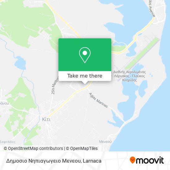 Δημοσιο Νηπιαγωγειο Μενεου χάρτης