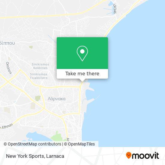 New York Sports χάρτης