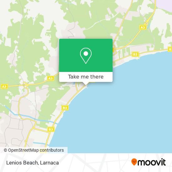 Lenios Beach χάρτης