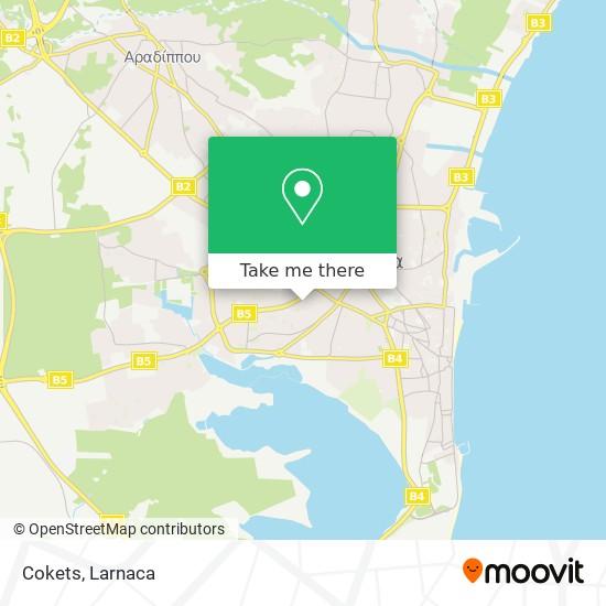 Cokets χάρτης