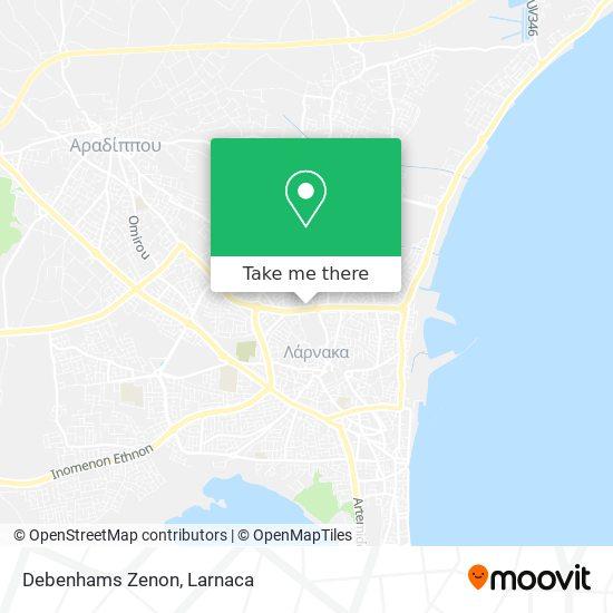 Debenhams Zenon χάρτης