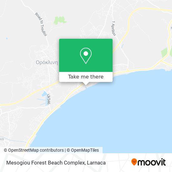 Mesogiou Forest Beach Complex χάρτης