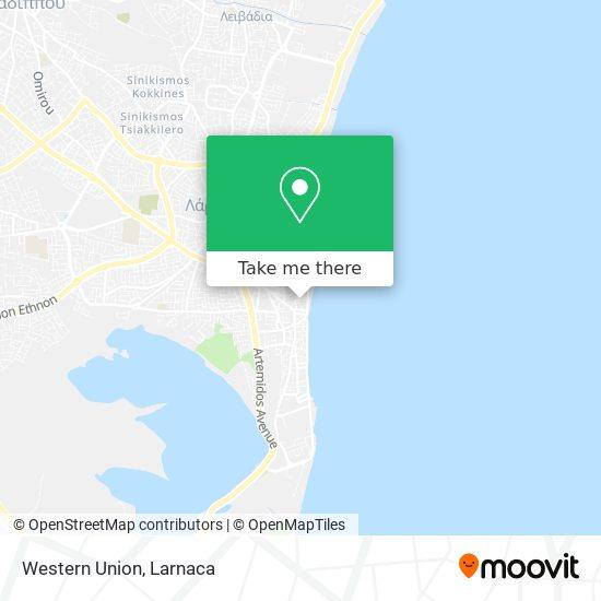 Western Union χάρτης