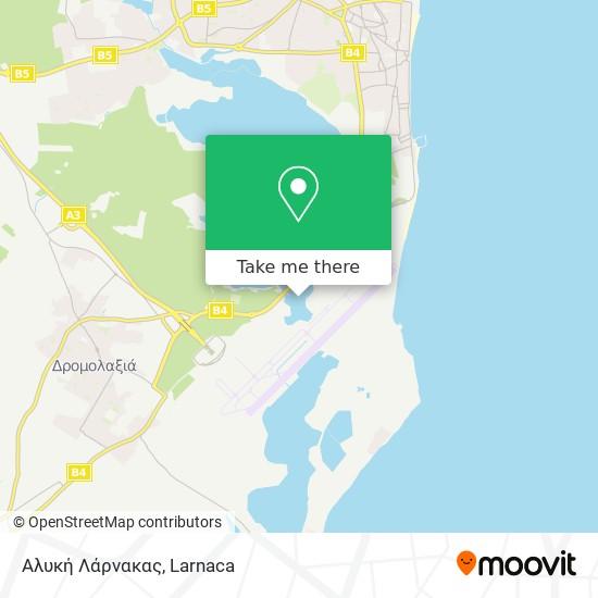Αλυκή Λάρνακας χάρτης