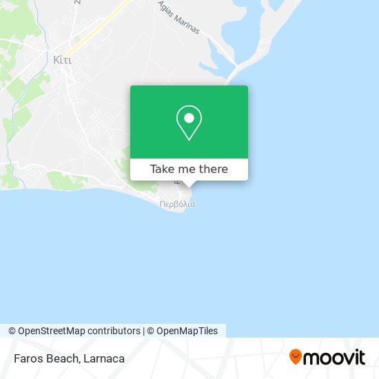 Faros Beach χάρτης