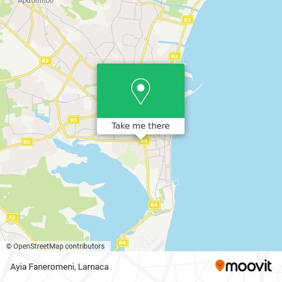 Ayia Faneromeni χάρτης