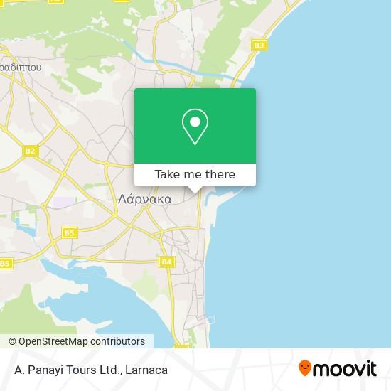 A. Panayi Tours Ltd. χάρτης