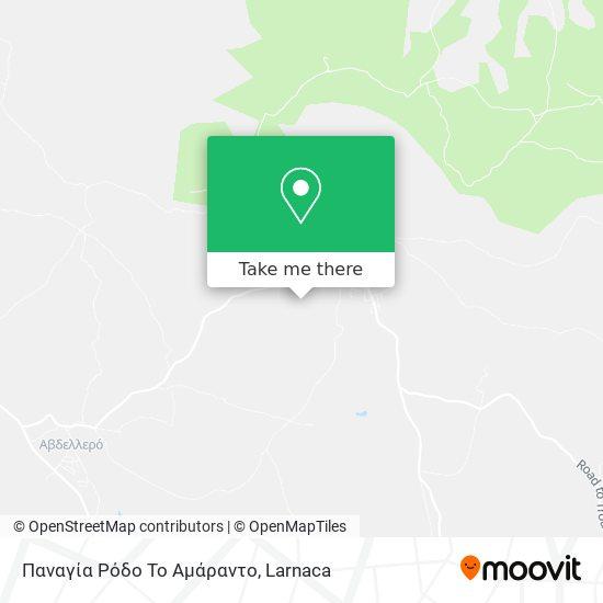 Παναγία Ρόδο Το Αμάραντο χάρτης