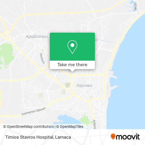 Timios Stavros Hospital χάρτης