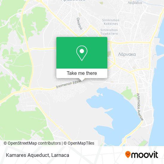 Kamares  Aqueduct χάρτης