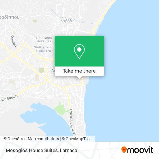 Mesogios House Suites χάρτης